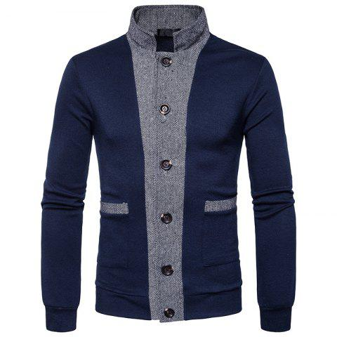 Outfits New Winter Men'S Classic Hit Color Front Cardigan Coat