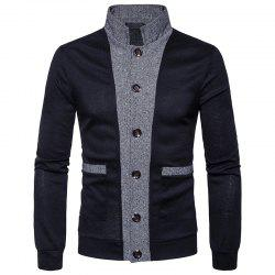 New Winter Men'S Classic Hit Color Front Cardigan Coat -