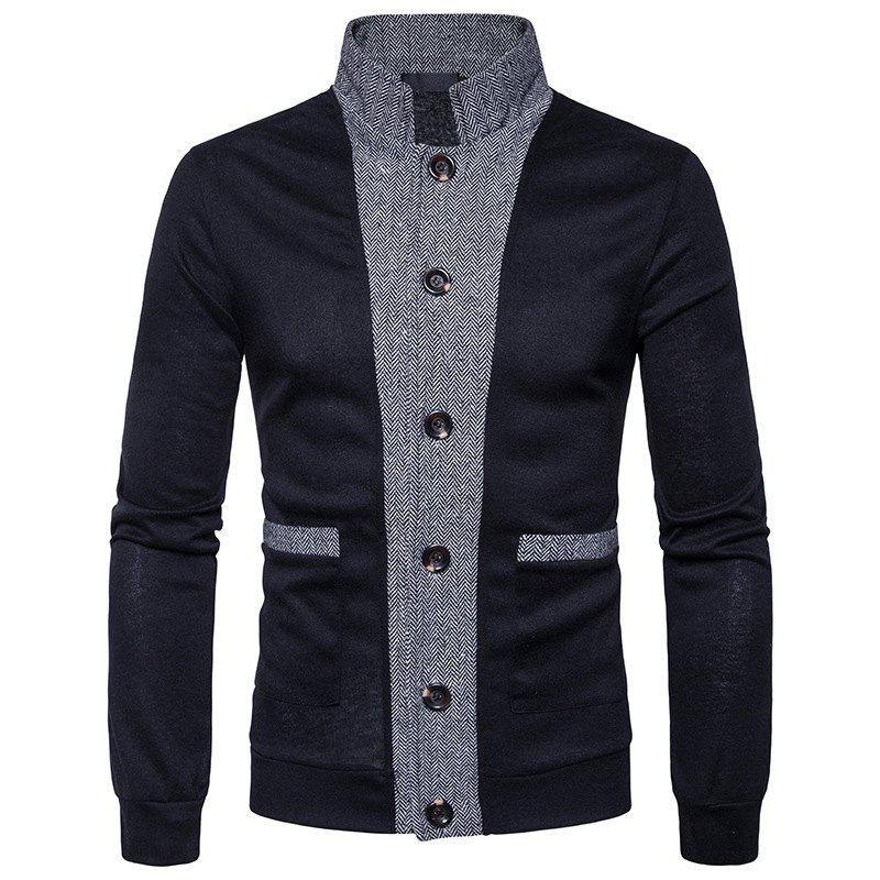 Best New Winter Men'S Classic Hit Color Front Cardigan Coat