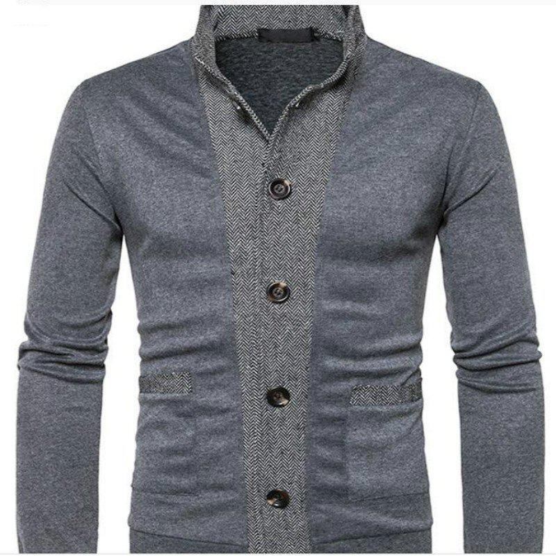 Online New Winter Men'S Classic Hit Color Front Cardigan Coat