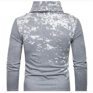 Autumn and Winter New Personality Fashion Spray Paint Pile Collar Long Sleeved Man SweaterMJ20 -
