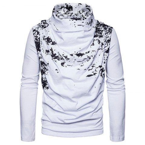 Hot Autumn and Winter New Personality Fashion Spray Paint Pile Collar Long Sleeved Man SweaterMJ20