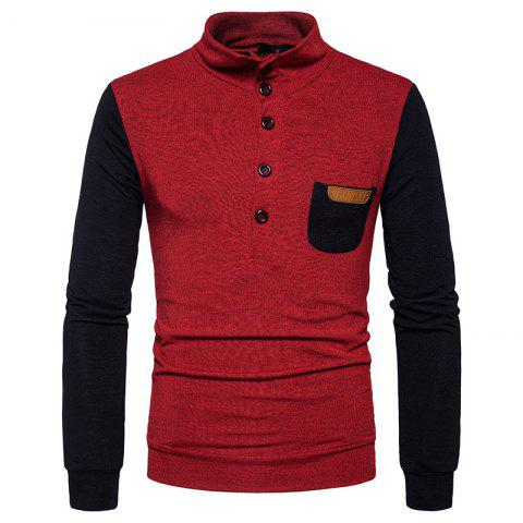 Affordable New Men'S Fashion Collar Sweater Slim Single Pocket Pullover