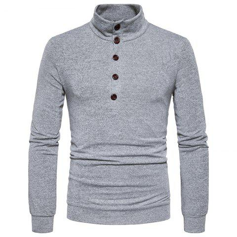 Shop New Winter Men'S Fashion Personality Color Coat Sweater Slim Collar