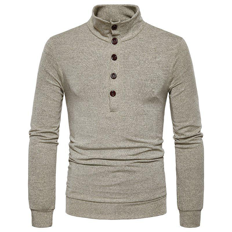 Outfit New Winter Men'S Fashion Personality Color Coat Sweater Slim Collar