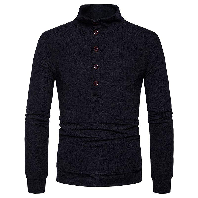 Fashion New Winter Men'S Fashion Personality Color Coat Sweater Slim Collar