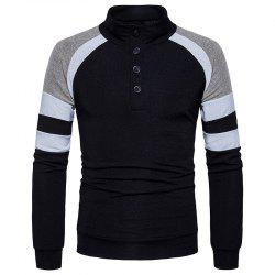 New Winter Men'S Slim Collar Sweater Sleeves Color Sweater MJ32 -