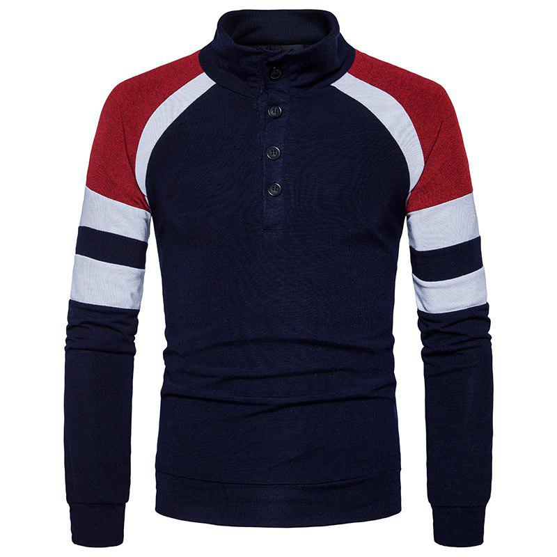 Affordable New Winter Men'S Slim Collar Sweater Sleeves Color Sweater MJ32
