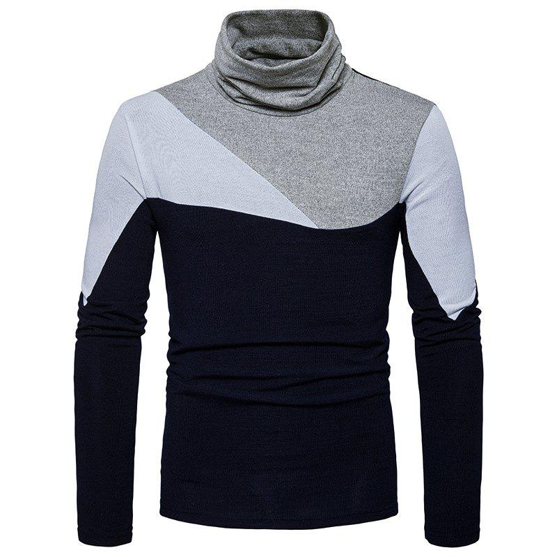 Chic New Men'S Fashion and Leisure Long Sleeved Long Knit Sweater MJ25