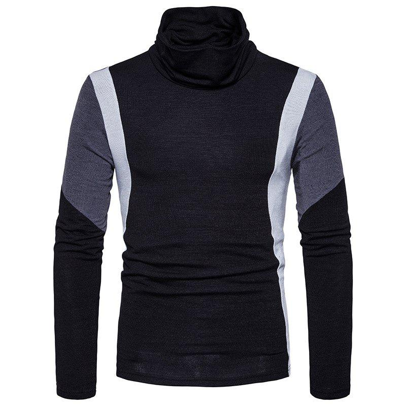 Shops New Men'S Casual Fashion Color Slim Warm Sweater MJ27