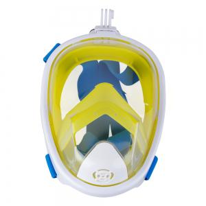 Full Face Snorkel Mask with Panoramic View Anti-Fog Anti-Leak Anti-vertigo Design 180 Degrees Viewing field of vision -
