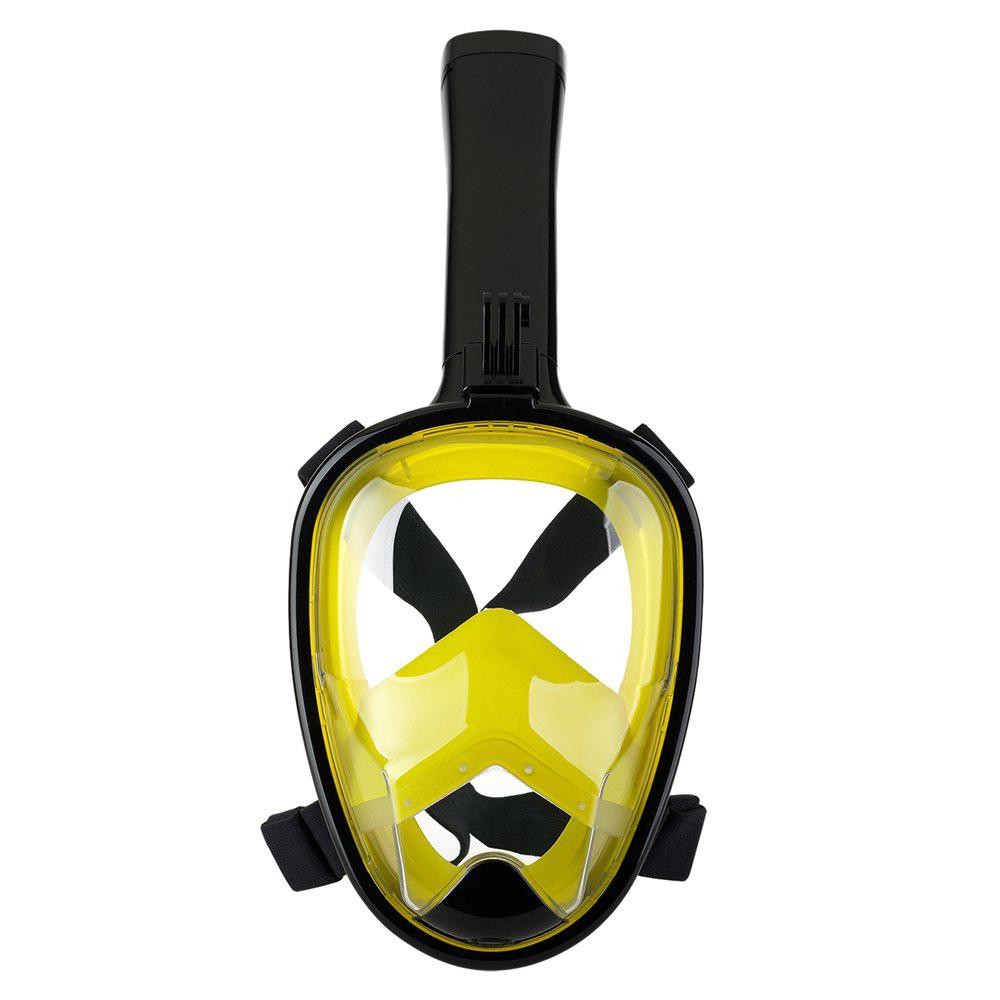 Outfit Full Face Snorkel Mask with Panoramic View Anti-Fog Anti-Leak Anti-vertigo Design 180 Degrees Viewing field of vision