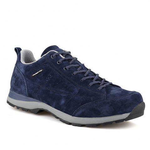Store HUMTTO Men Trekking Shoes Breathable Sneakers Leather Walking Shoes