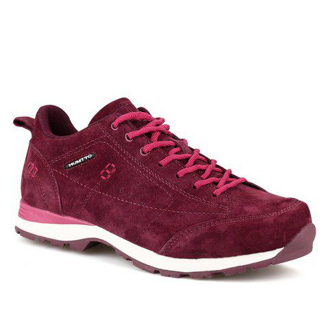 Hot HUMTTO Women Trekking Shoes Breathable Sneakers Leather Walking Shoes
