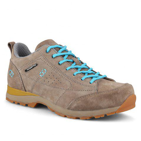 Trendy HUMTTO Women Trekking Shoes Breathable Sneakers Leather Walking Shoes