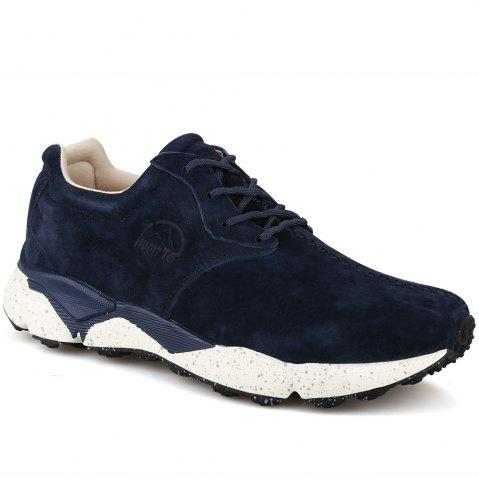 New HUMTTO Men Running Shoes Cushioning Light Leather Breathable Sneakers