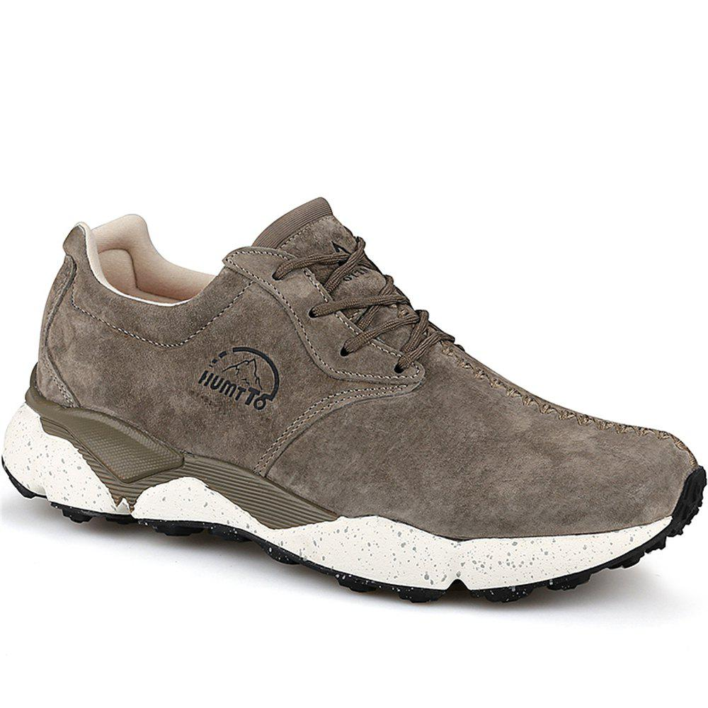 Affordable HUMTTO Men Running Shoes Cushioning Light Leather Breathable Sneakers