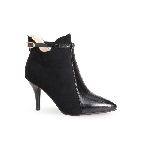 Buy New Europe Leather high-heeled Boots Pointed Stilettos Single Boots Boots