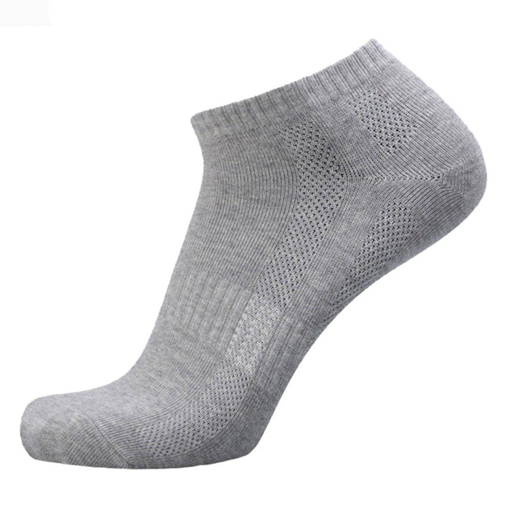 Online Stripe Elastic Knitting Ankle Socks - 5 pairs