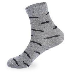 Beard Pattern Knitted Socks - 5 x Pair -
