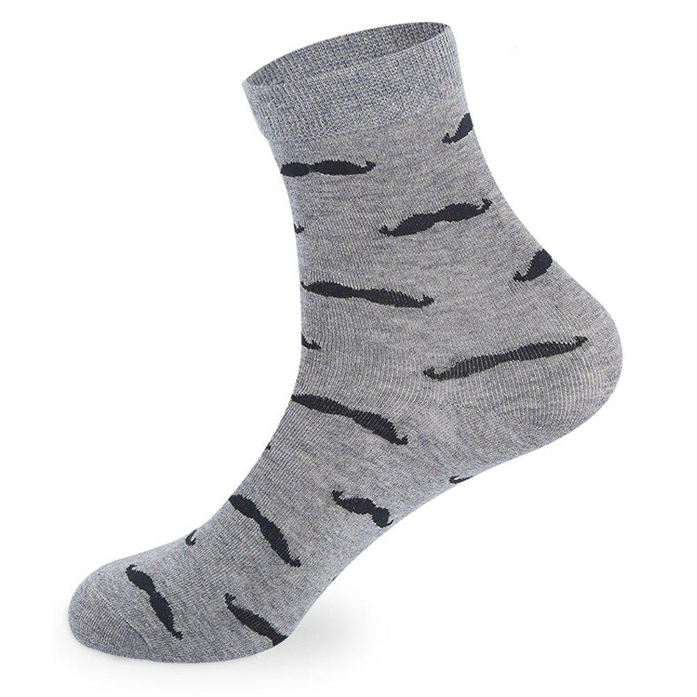 Hot Beard Pattern Knitted Socks - 5 x Pair