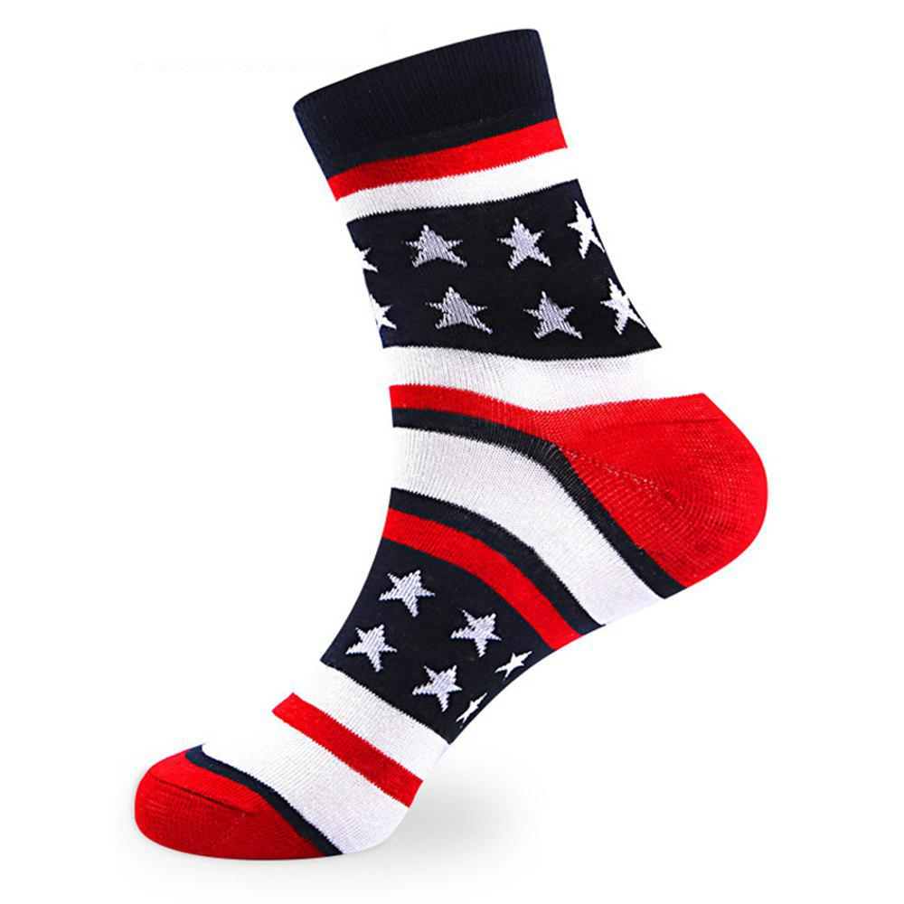 Unique Stars Stripe Embellished Knitted Loafer Socks -5 x Pair