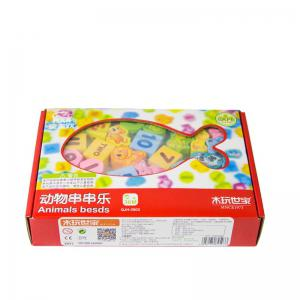 Animal - String  - Wooden Block Children Puzzle National Toy QJH-2503 -