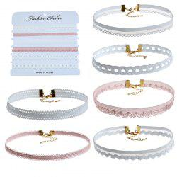 6PCS White Lace Choker for Women Jewelry -