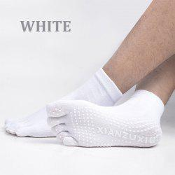 Men's cotton breathable non-slip massage yoga socks cotton YOGA deodorant wings socks 5 toe socks ciclismo male pattern -