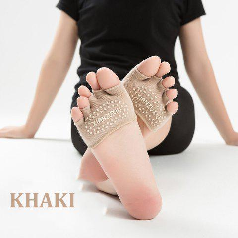 Store Women's cotton breathable non-slip Half palm yoga socks cotton YOGA deodorant wings socks ciclismo female pattern 5 color