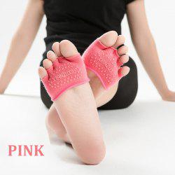 Women's cotton breathable non-slip Half palm yoga socks cotton YOGA deodorant wings socks ciclismo female pattern 5 color -