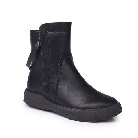 Unique Popular New Cotton Boots with Thick Bottom Round Short Tube Martin Winter Comfort All-Match Waterproof Boots