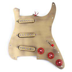 Pick-up SSS Brone Pickguard Alnico V pour Guitare Strat - Bronze