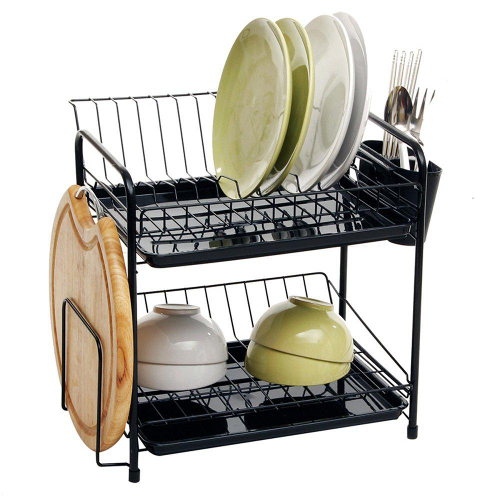 Store ORZ 2 Tier Dish Rack Plate Drainer Drying Shelf  Cup Mug Cutting Board Holder  Kitchen Organizer Storage