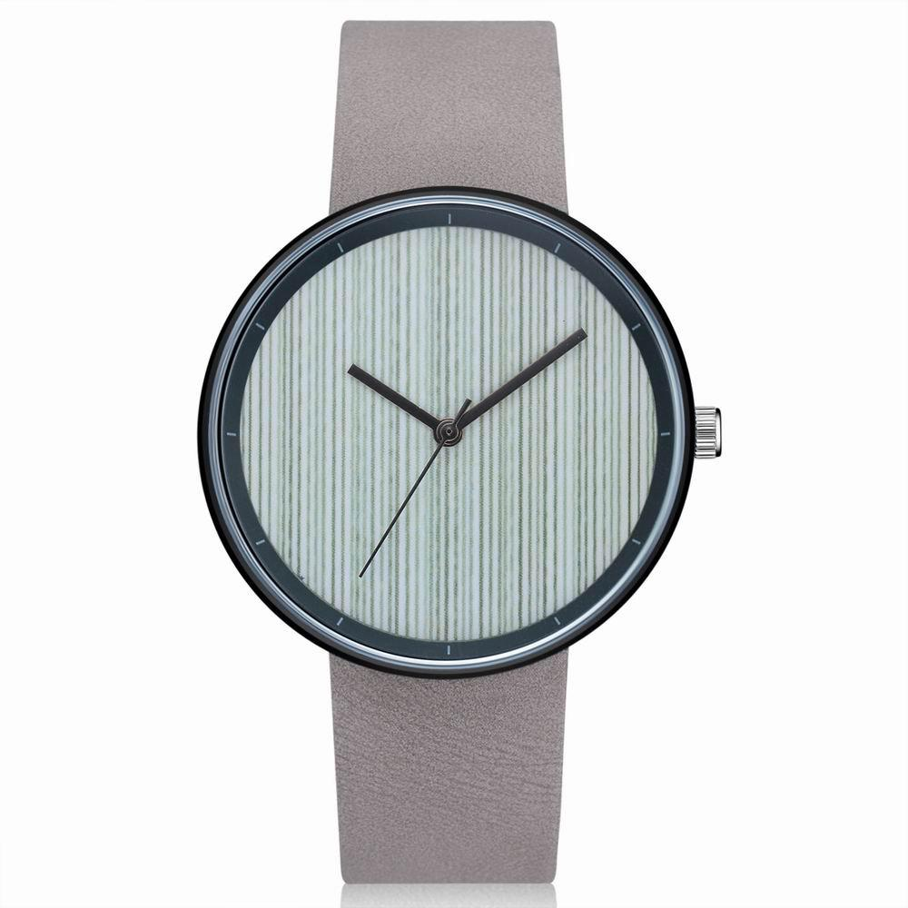 Discount GAIETY Men's Casual Stripe Dial Leather Band Dress Watch G538