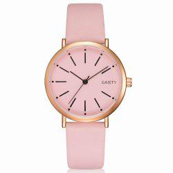 GAIETY Women's Rose Gold Simple Leather Strap Dress Watch G536 -