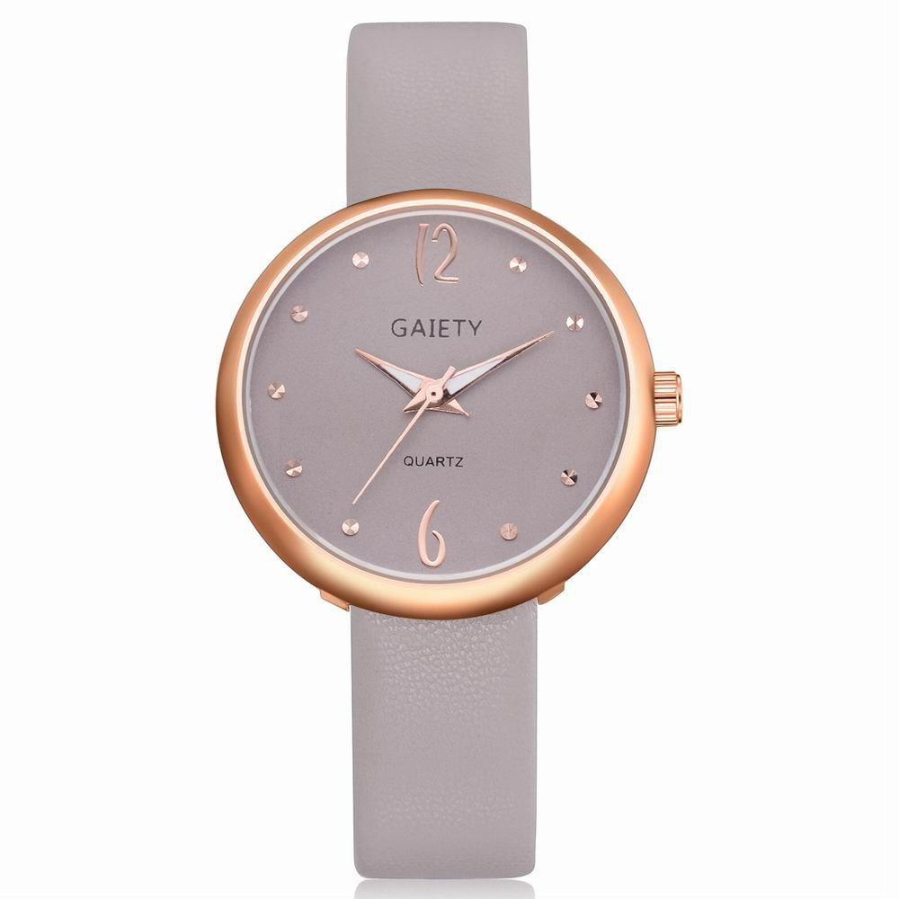 Online GAIETY Women's Casual Leather Band Dress Watch Rose Gold Tone G528