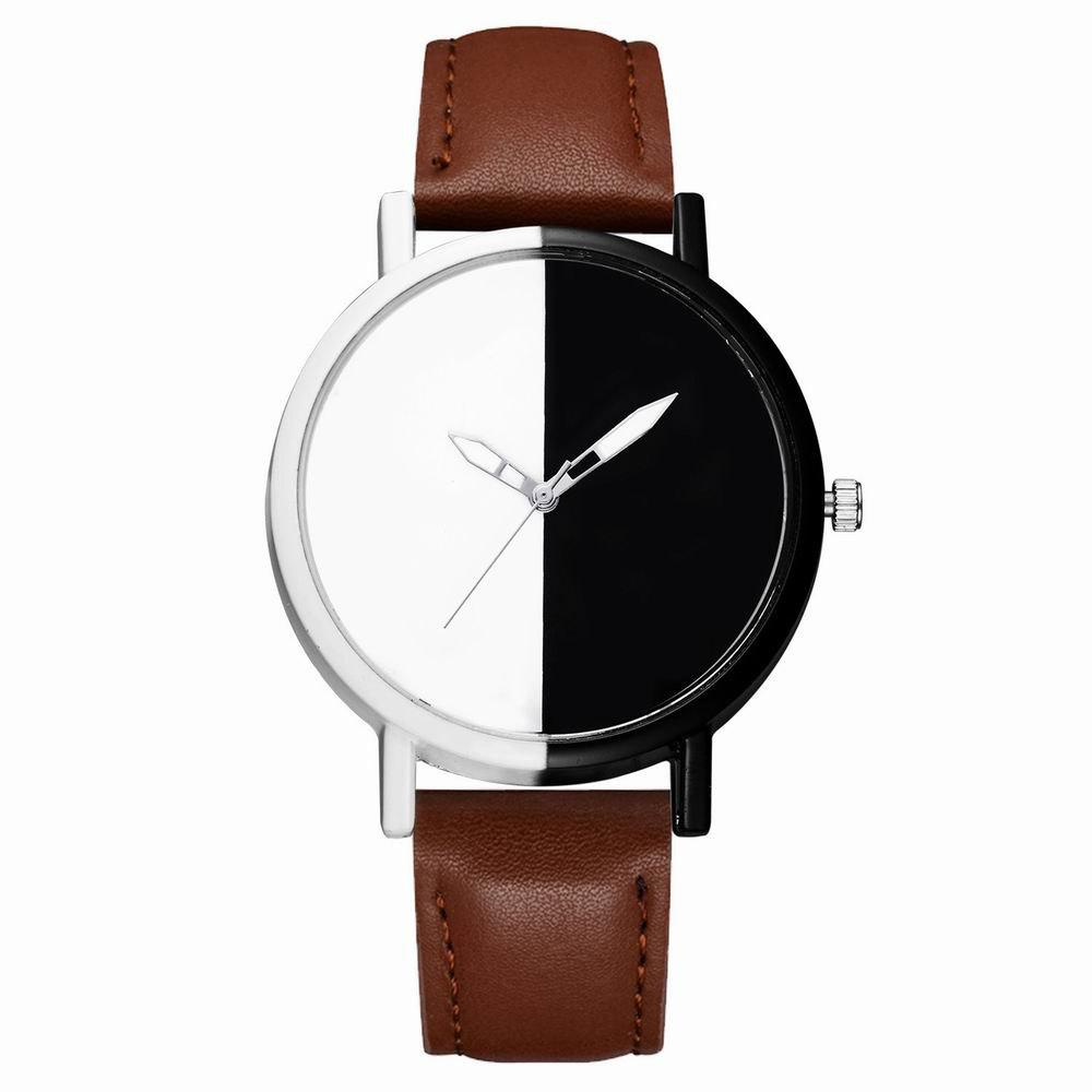 Cheap GAIETY Women Two Tone Dial Leather Strap Dress Watch G519
