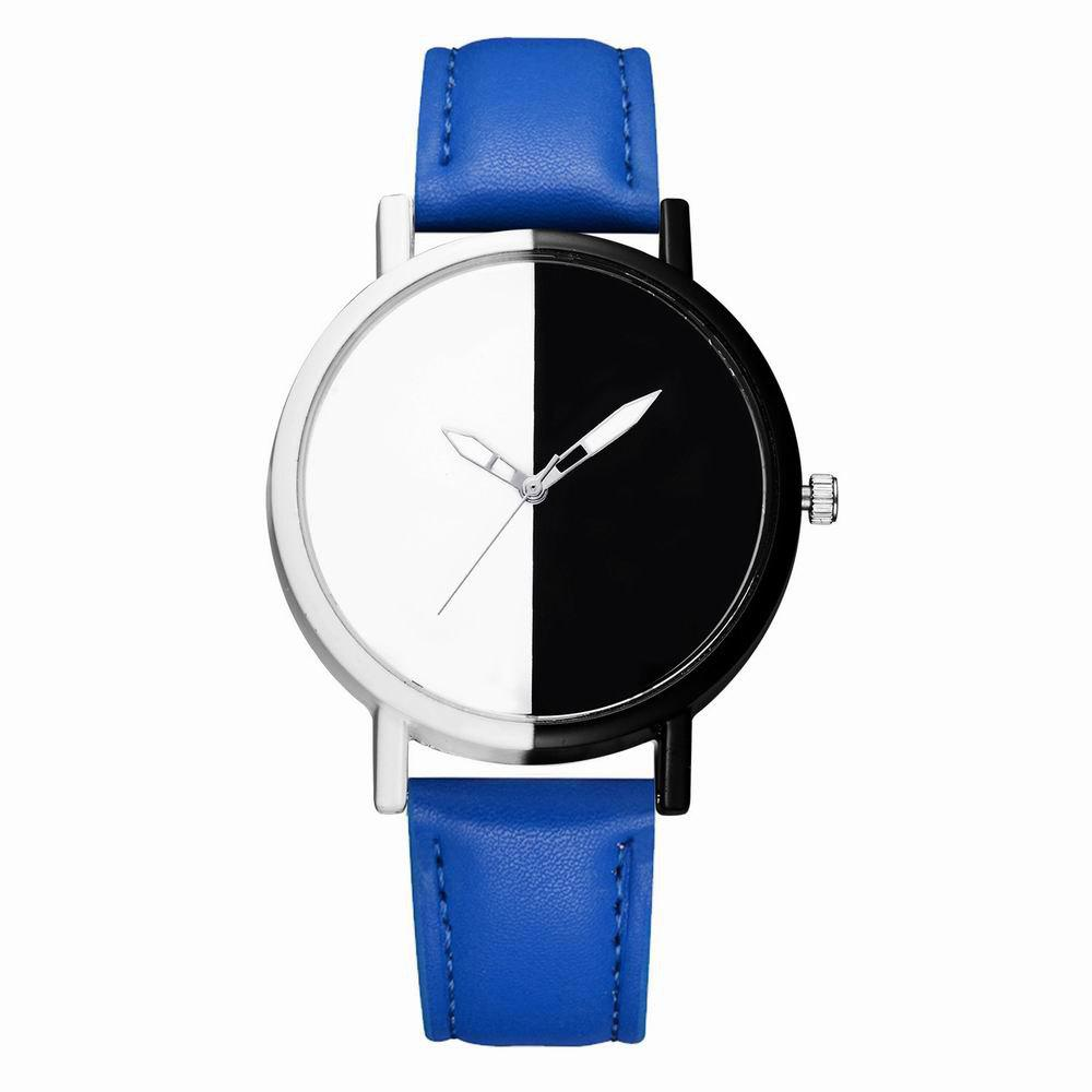 Unique GAIETY Women Two Tone Dial Leather Strap Dress Watch G519