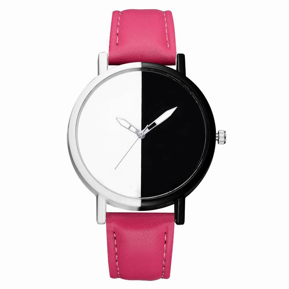 Buy GAIETY Women Two Tone Dial Leather Strap Dress Watch G519