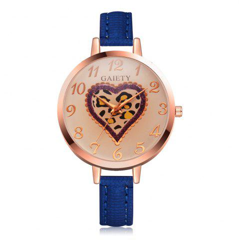 Sale GAIETY Women's Peach Heart Leather Band Dress Watch Rose Gold Tone G518