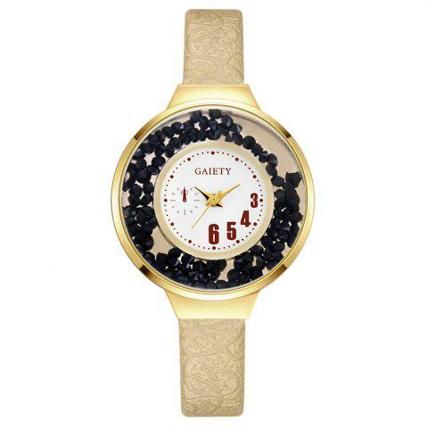Trendy GAIETY G482 Ladies Quicksand Fashion Quartz Watch