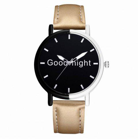 Fancy GAIETY Women's Black Dial Two Tone Bezel Leather Band Quartz Watch G513