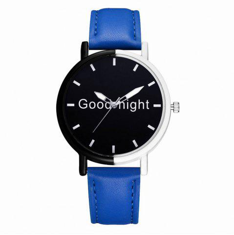 Outfit GAIETY Women's Black Dial Two Tone Bezel Leather Band Quartz Watch G513