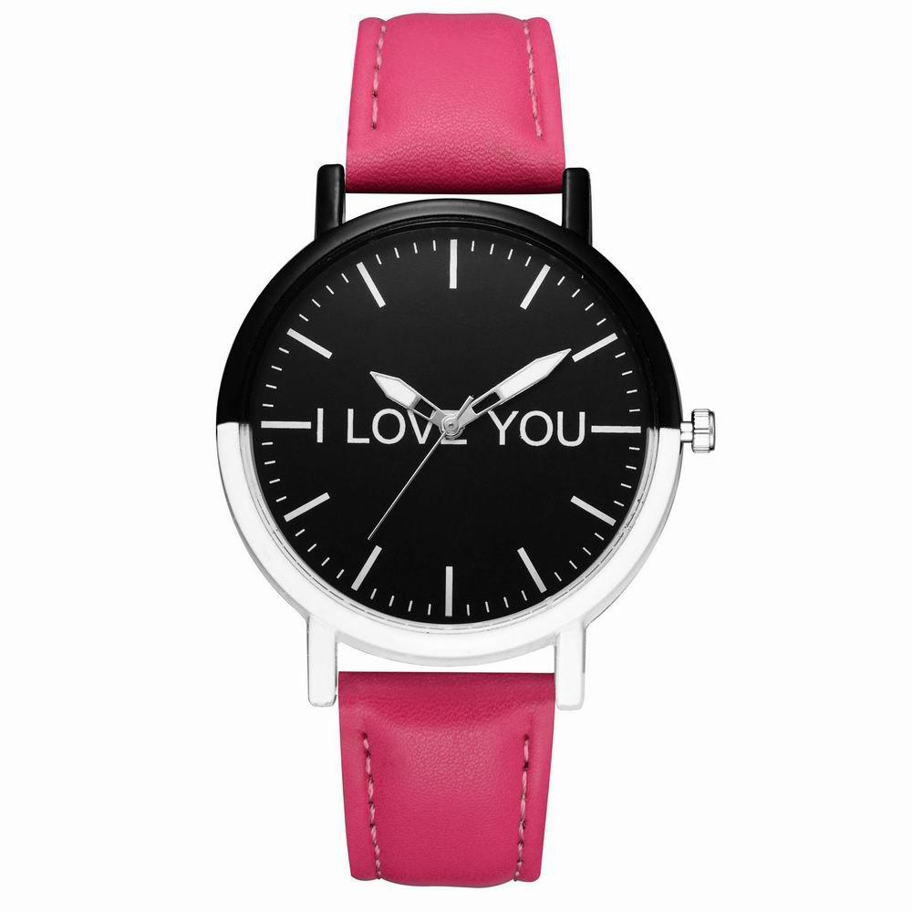 Affordable GAIETY Women's Two Tone Bezel Leather Strap Wrist Watches G505