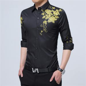 Male Long Sleeved Printed Shirt -