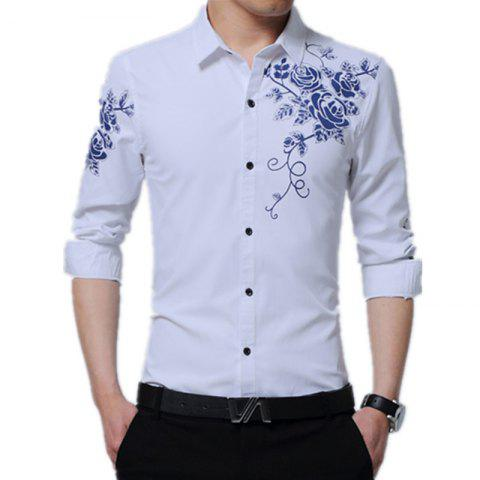 Affordable Male Long Sleeved Printed Shirt