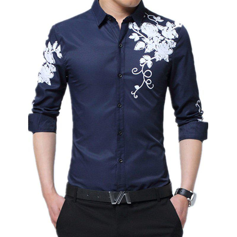 Discount Male Long Sleeved Printed Shirt
