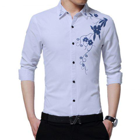 Hot Men'S Long Sleeved Print Shirts