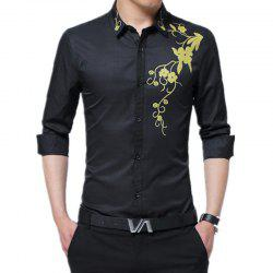 Men'S Long Sleeved Print Shirts -